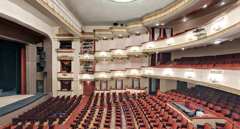 Схема зала театра вахтангова в формате 3d